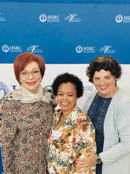 Mrs Bibi Bouwman, Mrs, Adelaide Sheik and Dr. Deidre van Rooyen